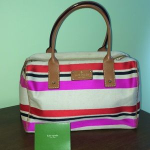 Kate Spade Oak Island Stripe Kaleigh satchel